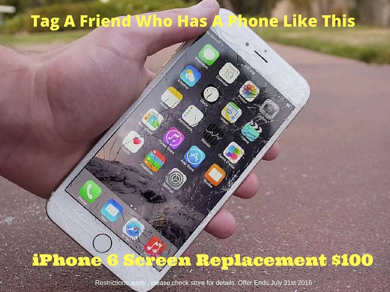 iPhone 6 cracked screen replacement will only cost $100
